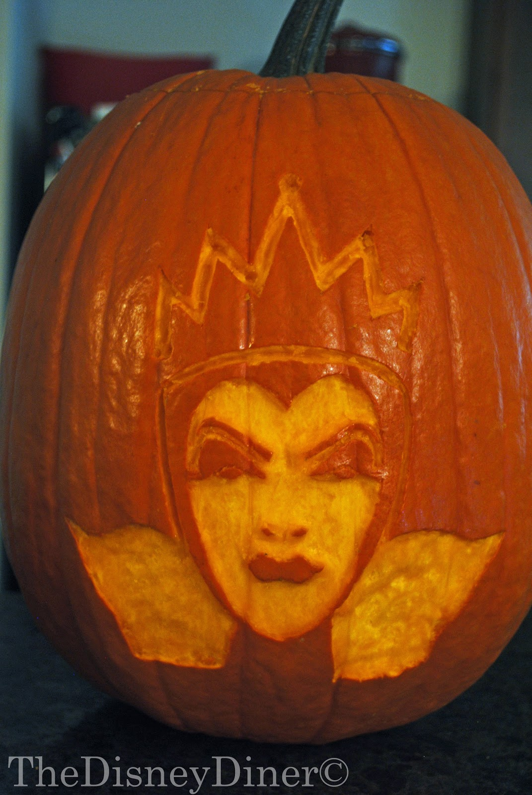 The disney diner evil queen pumpkin carving template