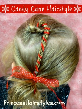 christmas hairstyles candy cane