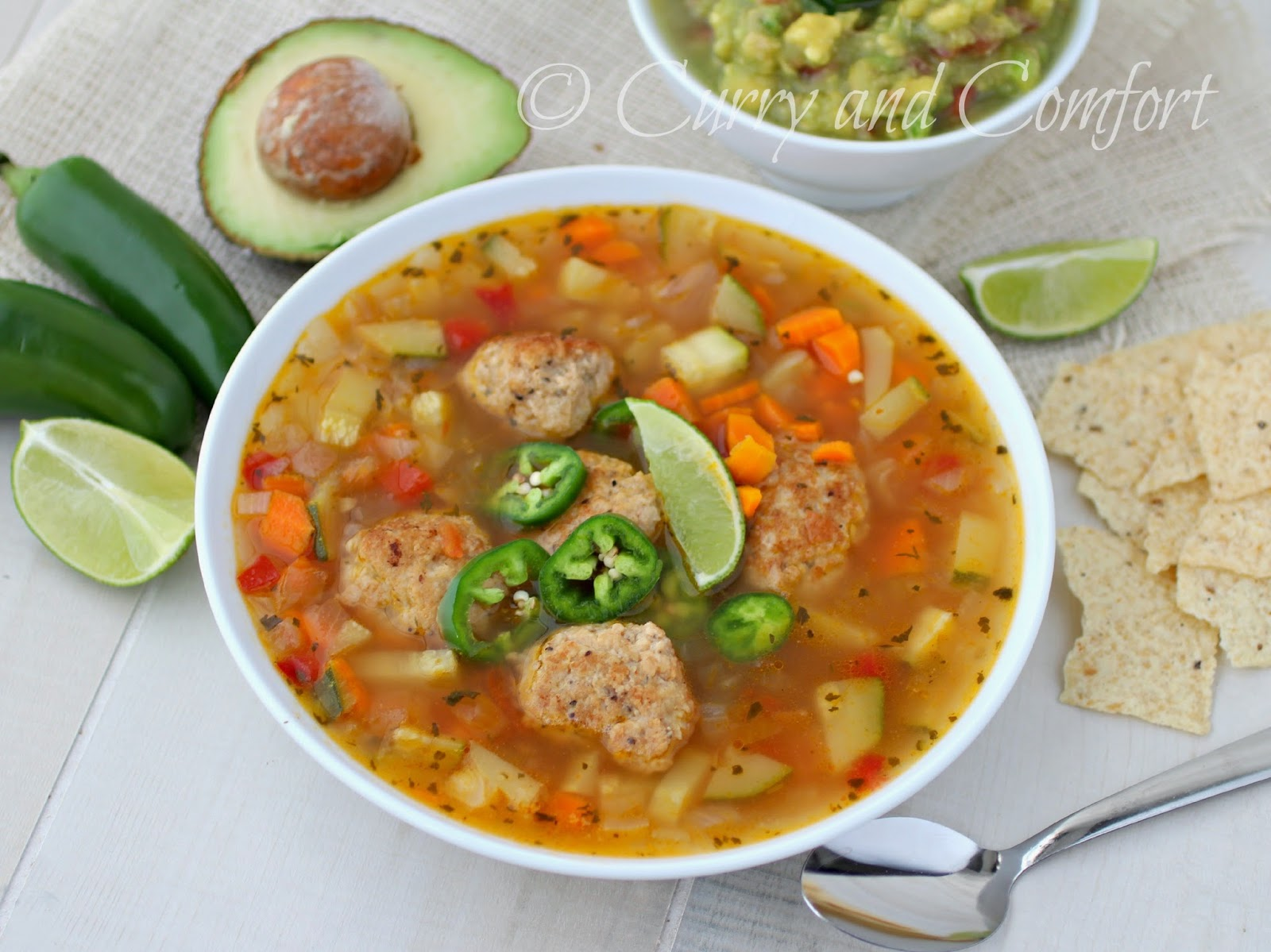 Curry and Comfort: Mexican Meatball Soup (Albondigas) Low Carb Version