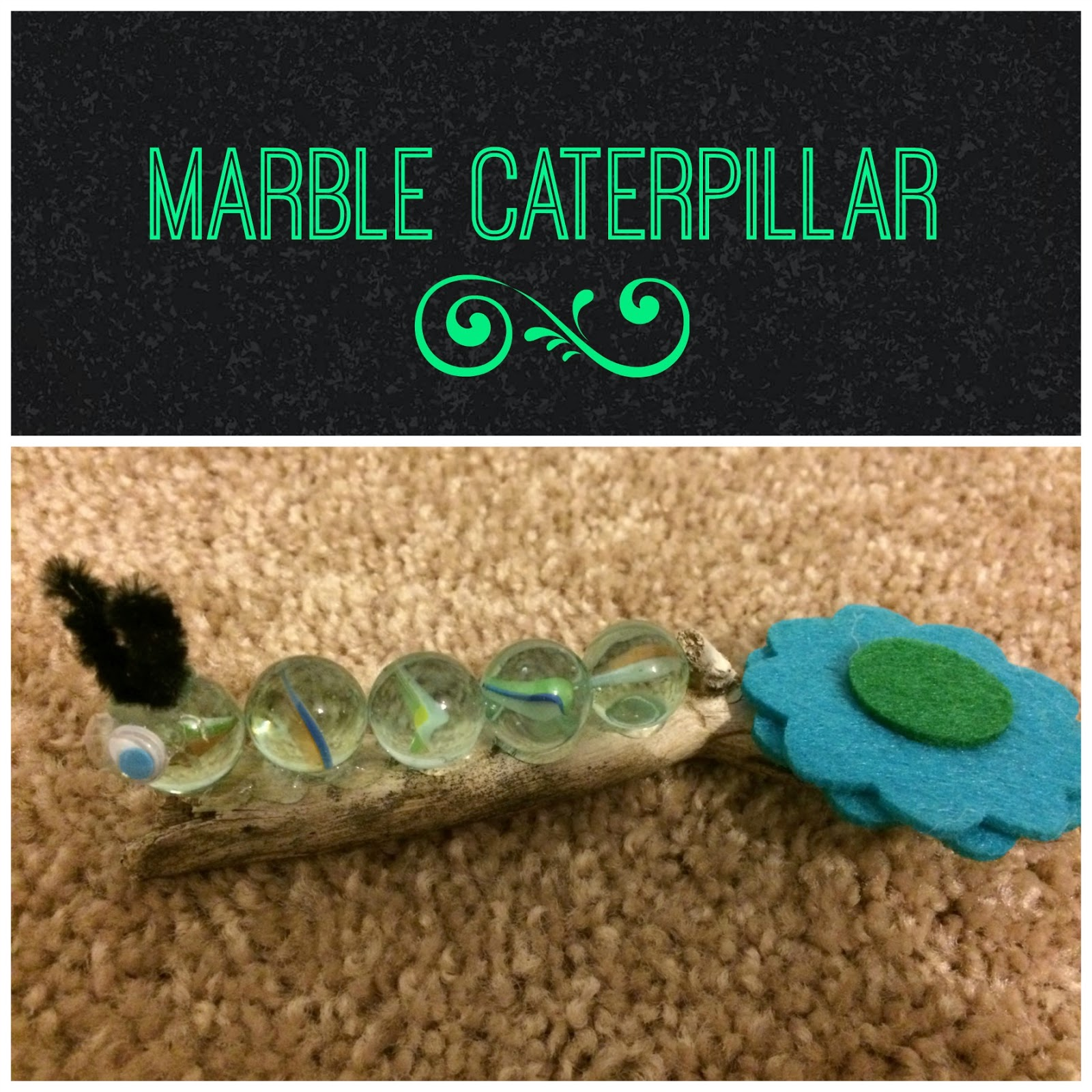 Marble Caterpillar, craft, toddler craft,