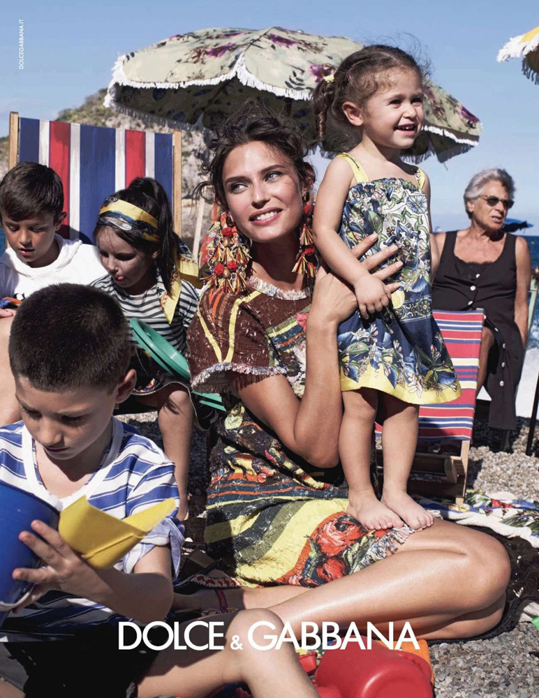 Bianca Balti in Dolce&Gabbana Spring/Sumemr 2013 campaign / baby girl, mother & daughter fashion editorials / models & their children / via fashioned by love british fashion blog