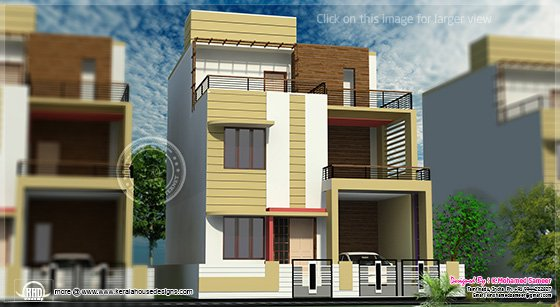 3 Storey House Plans 3 story house plan design in 2626 sq.feet - home design ideas for you