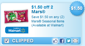 Save $1.50 on any 2 Mars Seasonal Items