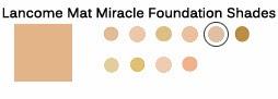 lancome mat miracle shades