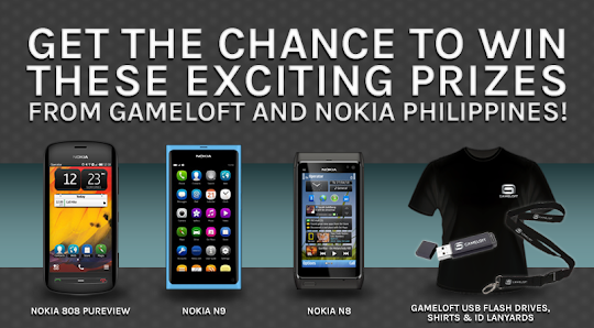Contest: Win Exciting Prizes from Gameloft and Nokia