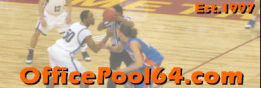 OfficePool64 - Men's Basketball Office Pool Bracket Contest
