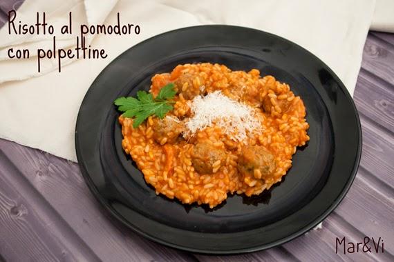 Ricetta di risotto al pomodoro con polpettine