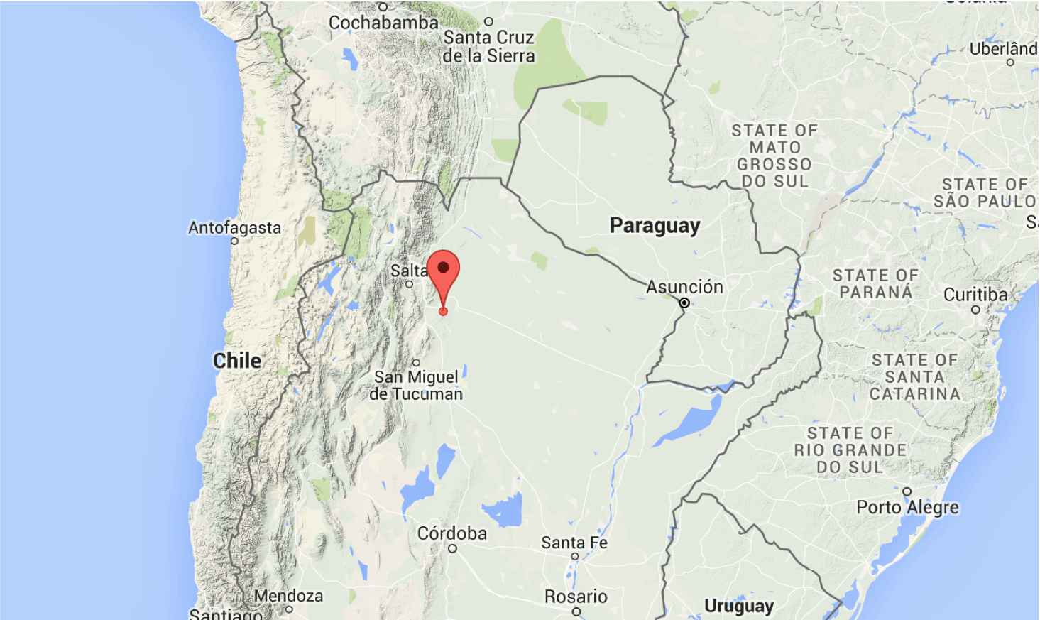 Sciency Thoughts Deadly Earthquake In Salta Province Argentina - Argentina map by province