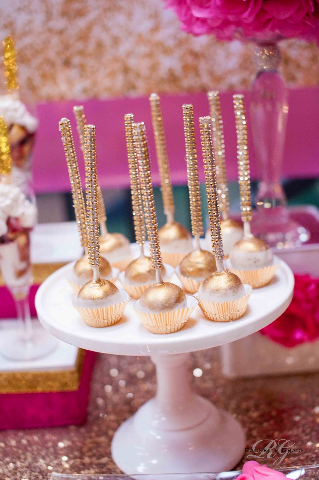 Create Cook Capture Diva Pink Amp Gold 40th Birthday Party