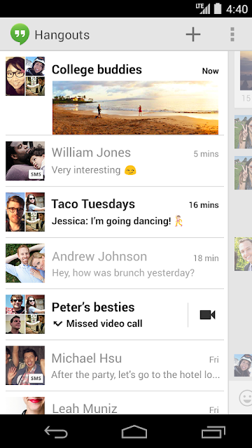 Hangouts replaces Talk