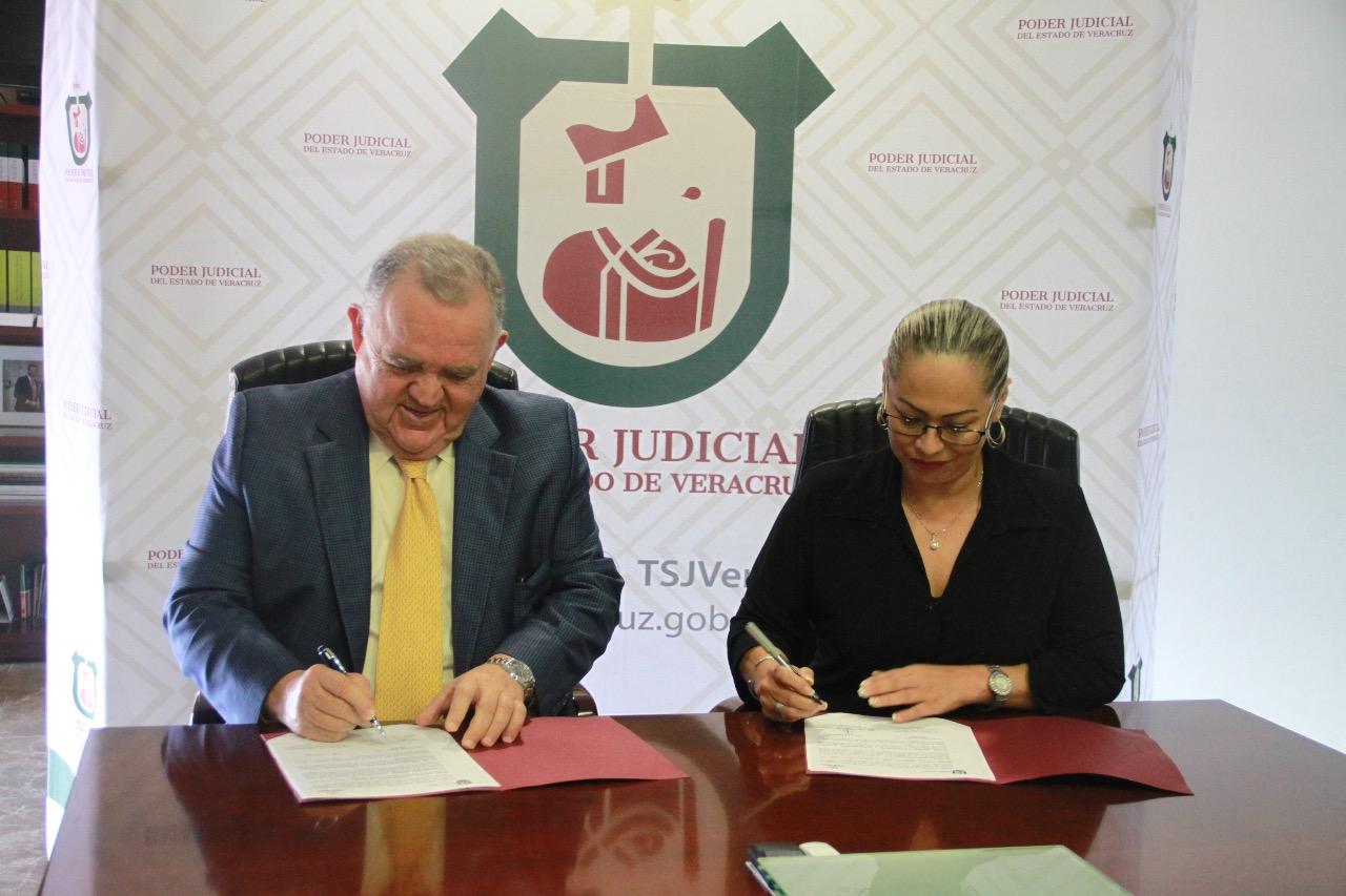Firman Convenio de Colaboración la Comisión Estatal de Derechos Humanos y el Consejo de la Judicatu