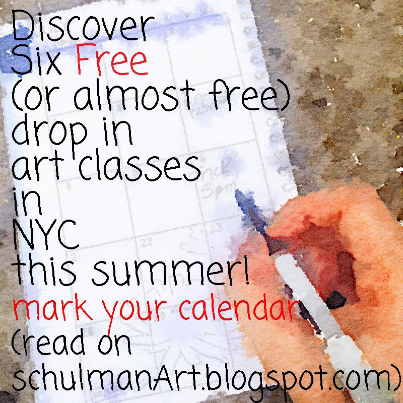free summer art events in nyc http://schulmanart.blogspot.com/2014/06/6-free-nyc-summer-art-experiences.html