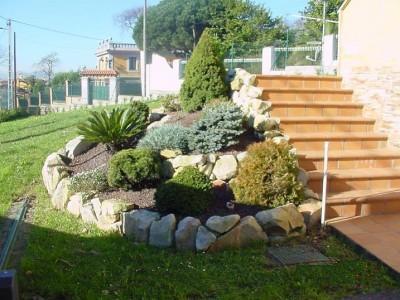 Decoraciones y hogar decoraci n del jard n con piedras - Decoracion del jardin ...