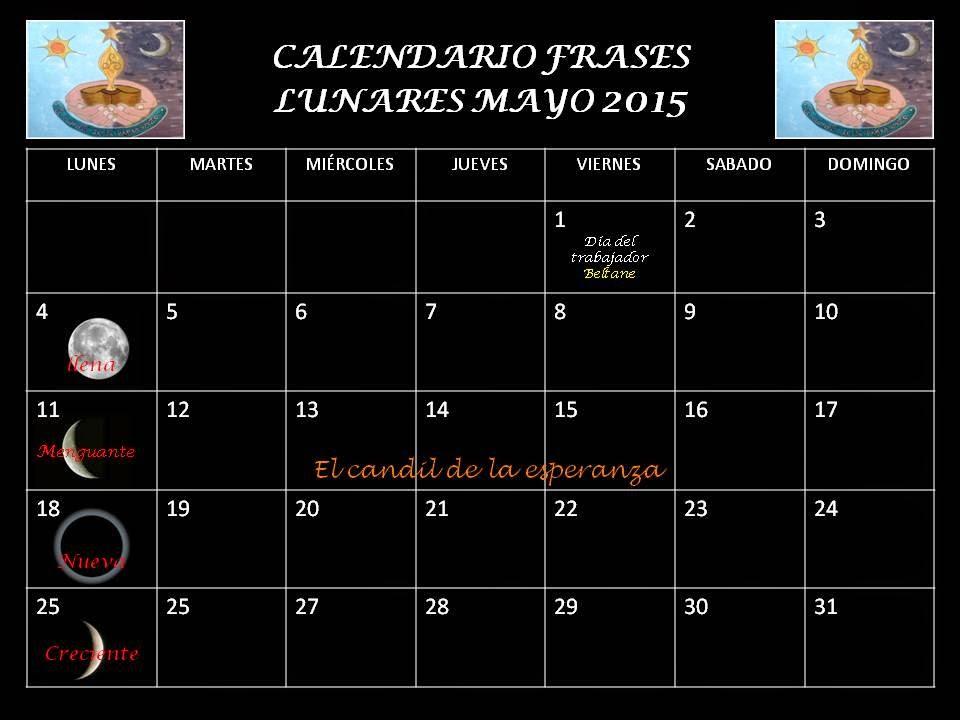 Fases de lunar abril 2015 new calendar template site for Calendario lunar mayo