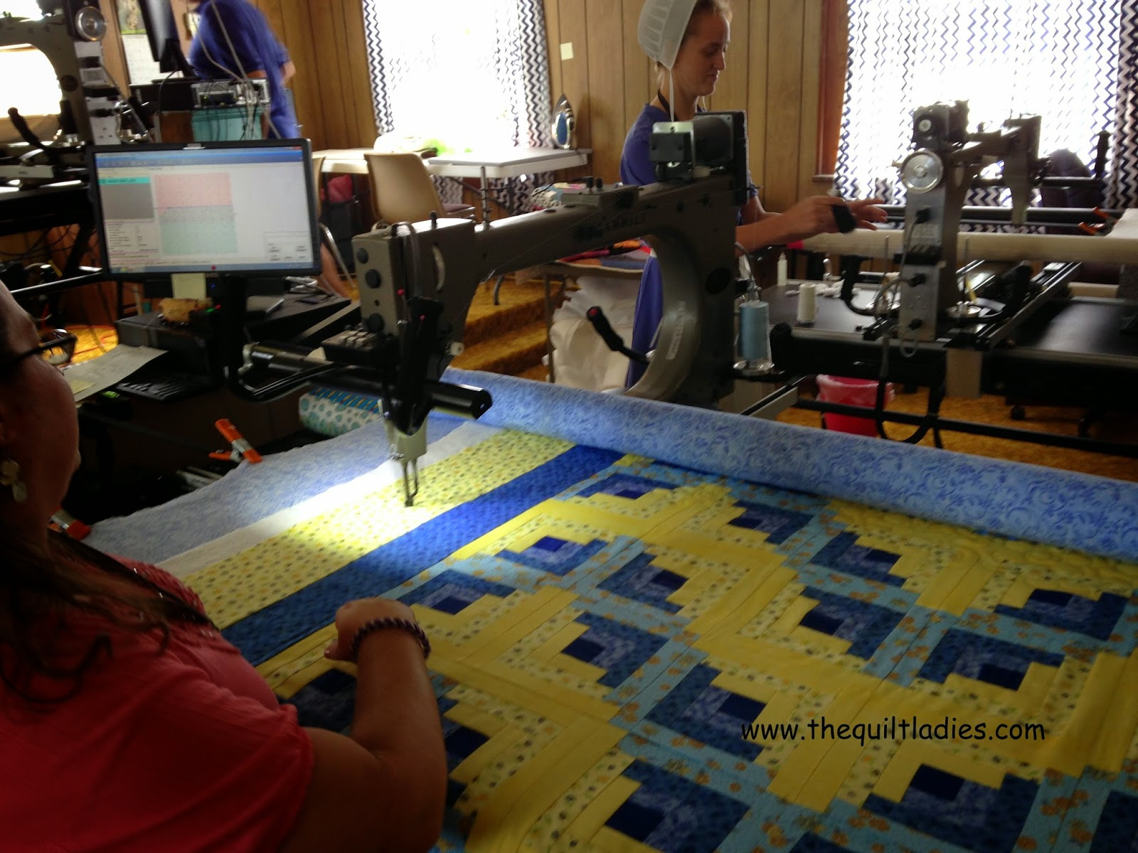 long arm quilting at Missouri Star Quilt Co. in Hamilton, MO