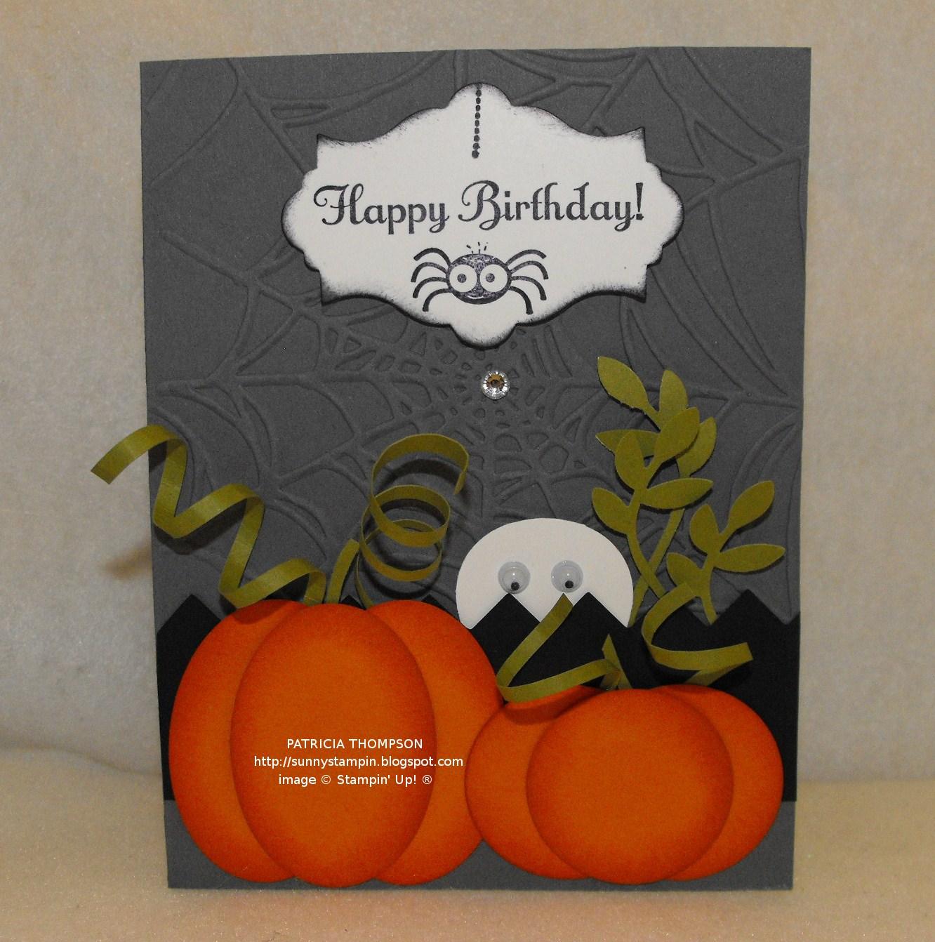 Sunnyone Stampin': Happy Halloween/Happy Birthday!