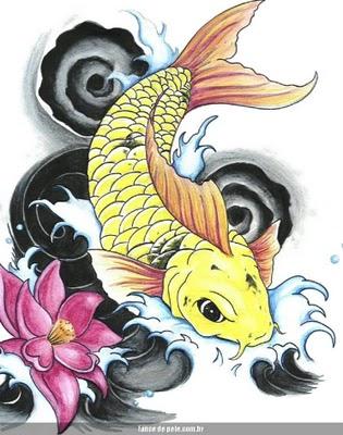 tatuagens masculinas tatuagem de carpa tattoo carpas peixe