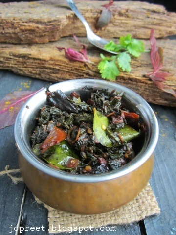 Thandu Keerai Poriyal (Red Amaranthus Stir-Fry)