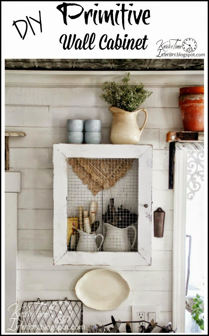 DIY Primitive Cabinet from a Repurposed Wooden Crate and Frame ...