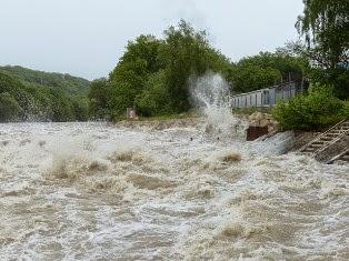 foto di inondazione fiume