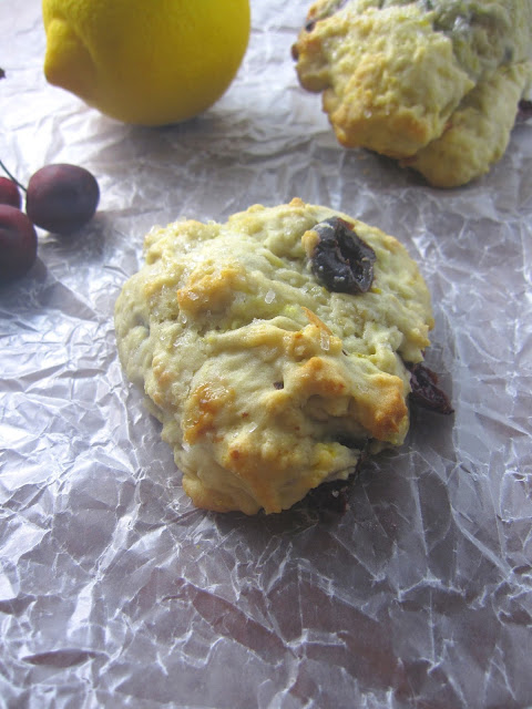 Fresh Cherry and Lemon Scones