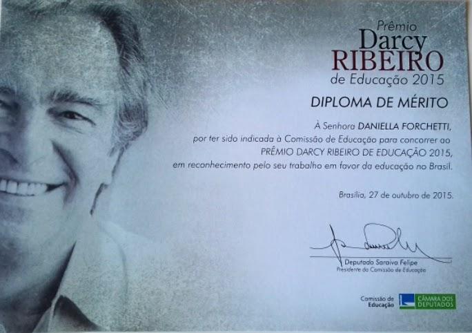 Diploma de Mérito - Prêmio Darcy Ribeiro.