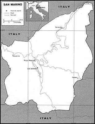 Mappa della città di San Marino