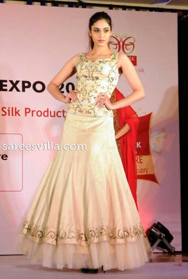Models At Silk Mark Vanya Silk Press Conference