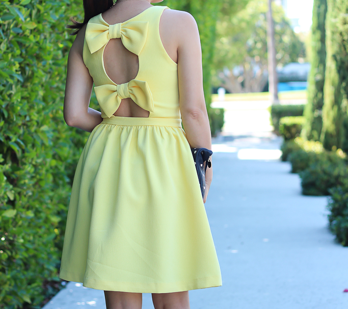 Soprano bow skater dress