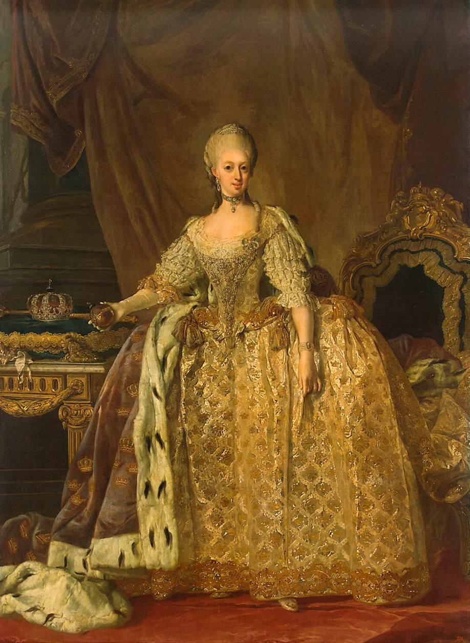 femme dans une robe de cour dorée magnifique au Moyen Age