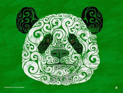 Swirly animal drawing