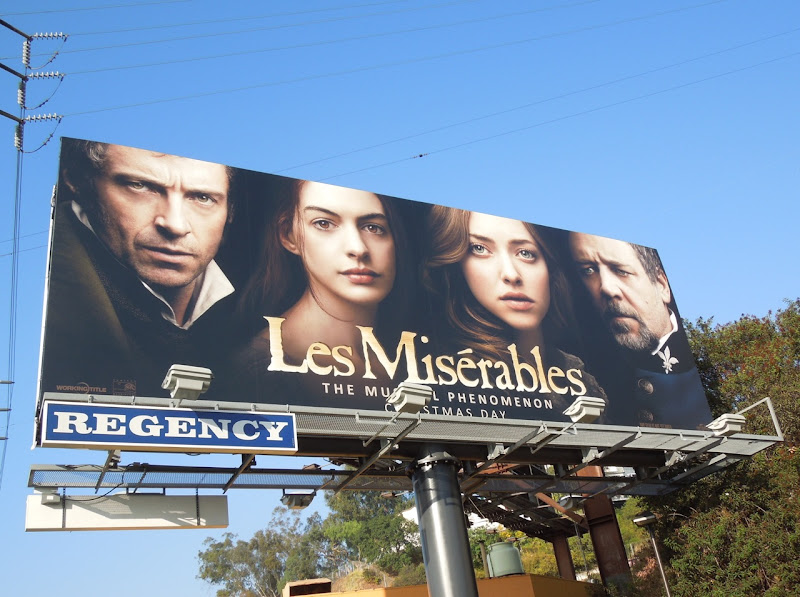 Les Miserables movie billboard