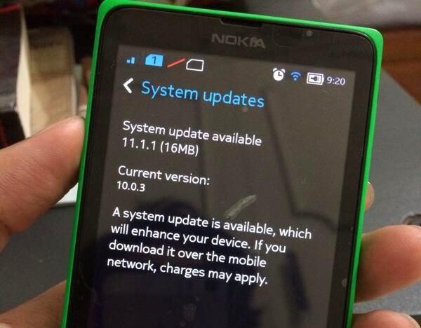 Nokia X receives 11.1.1 software update
