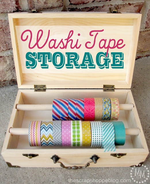 Not Just Paper and Glue: Washi Tape Storage {Michele from The Scrap Shoppe}