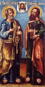 Azi 29 iunie praznuirea Sfintilor Apostoli Petru si Pavel !