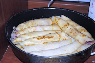 Crepes con cotto e mozzarella