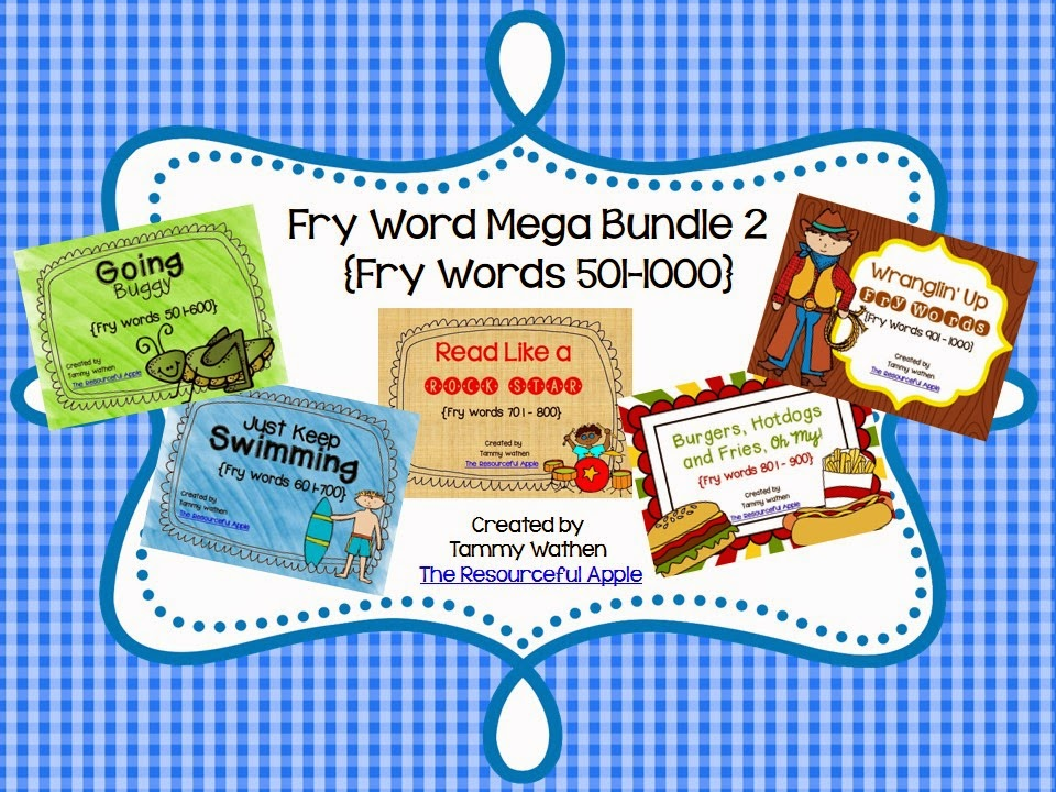 http://www.teacherspayteachers.com/Product/Fry-Word-MEGA-Bundle-2-Fry-Words-501-1000-1305697