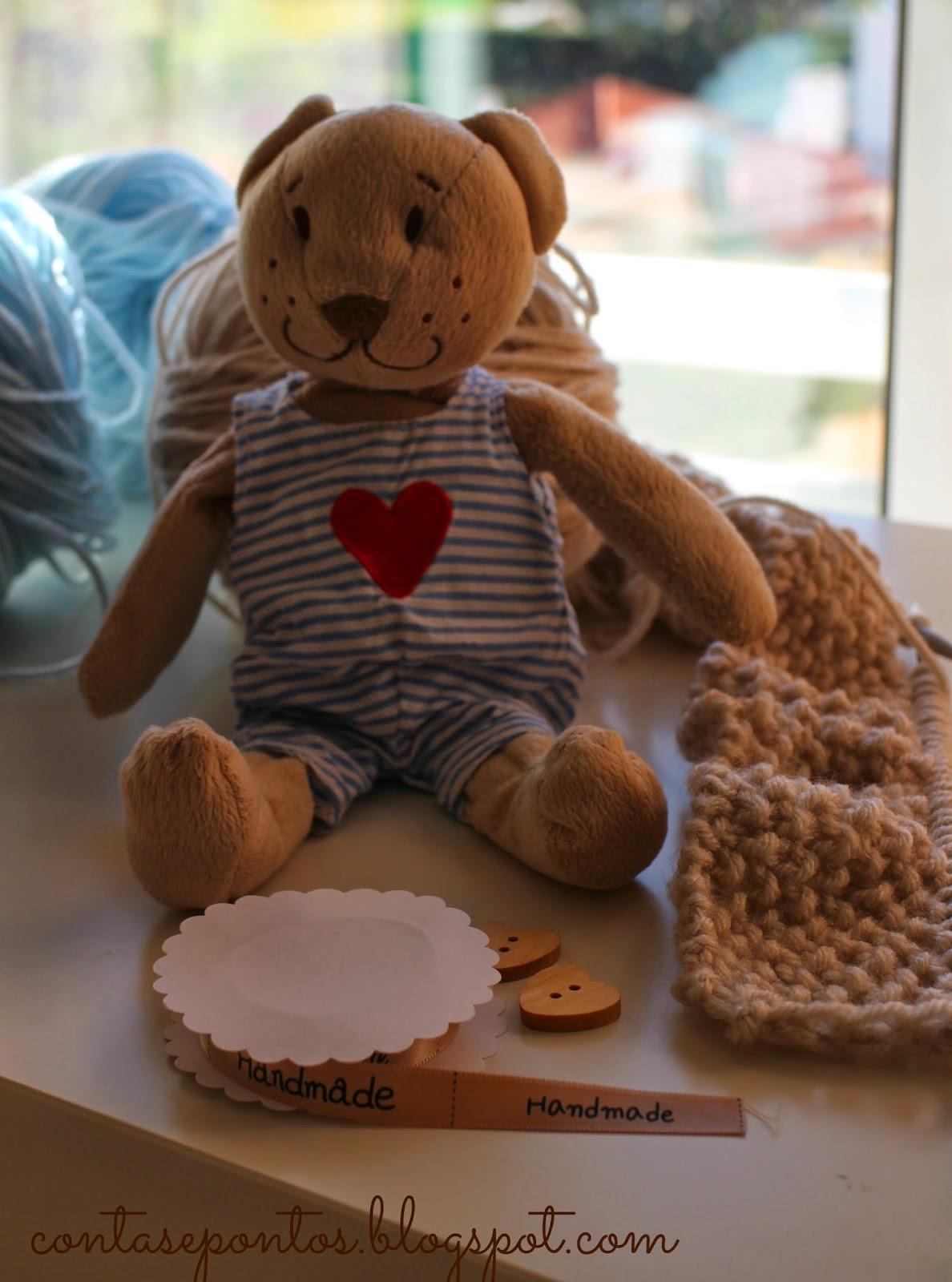 Manta de bebé em tricot