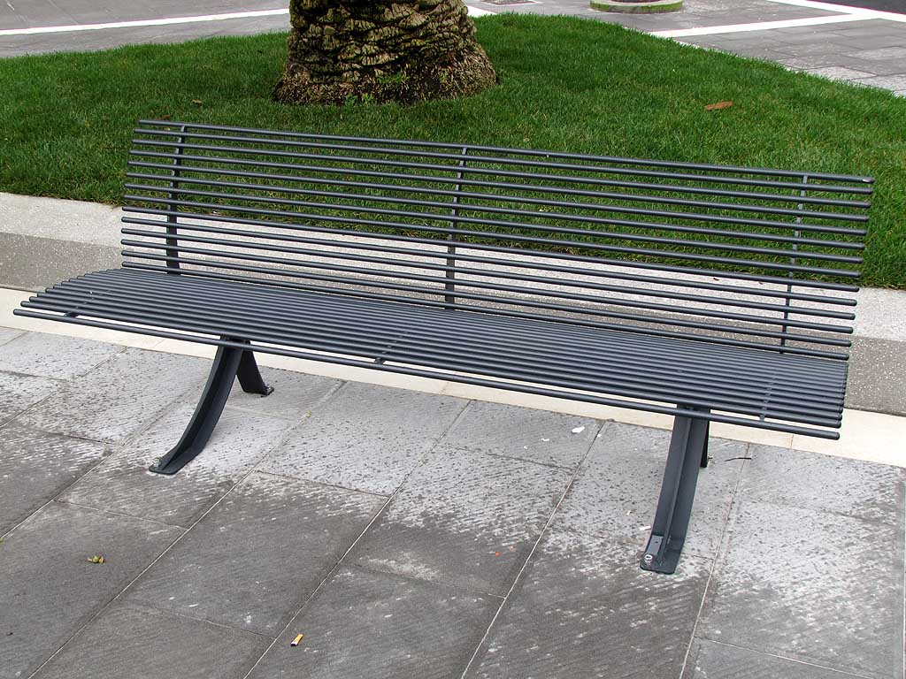 Livorno, bench, Town Hall square