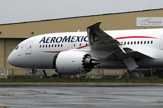 The first look at AeroMexico's Boeing 787 Dreamliner