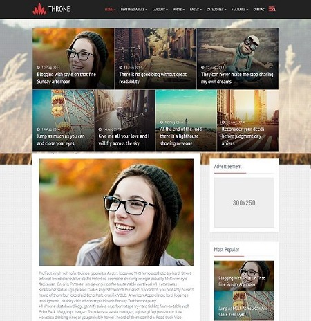 Template cho blogspot - Throne Magazine