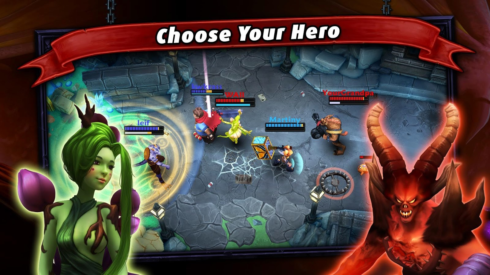 Download Heroes of SoulCraft - MOBA Apk+Data For Android