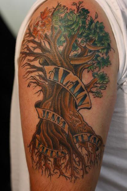 corey lyon tattoos family tree