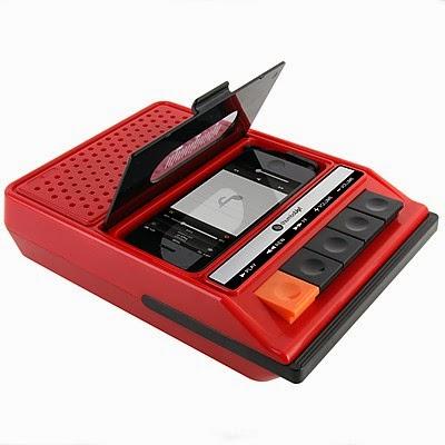 Altavoces iPhone con forma de Radio Cassette Retro