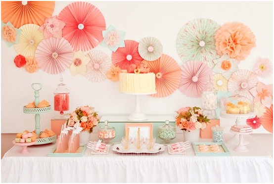 jprchitect design baby shower idea pink peach aqua yellow