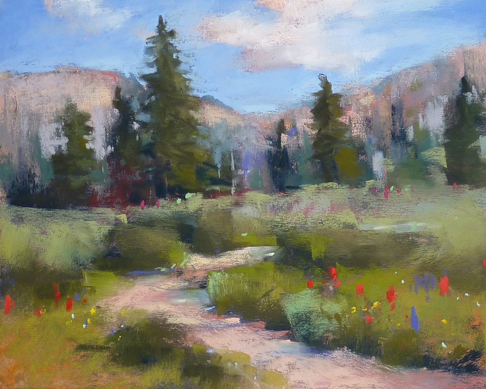 Painting my world pastel demo colorado landscape with for Artwork landscapes