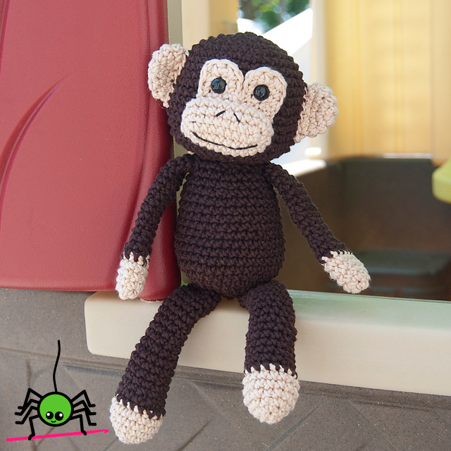 Amigurumi Free Pattern Crochet : The Itsy Bitsy Spider Crochet: Amigurumi Monkey Doll