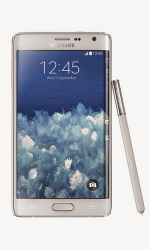 Samsung Galaxy Note Edge Front View White Color