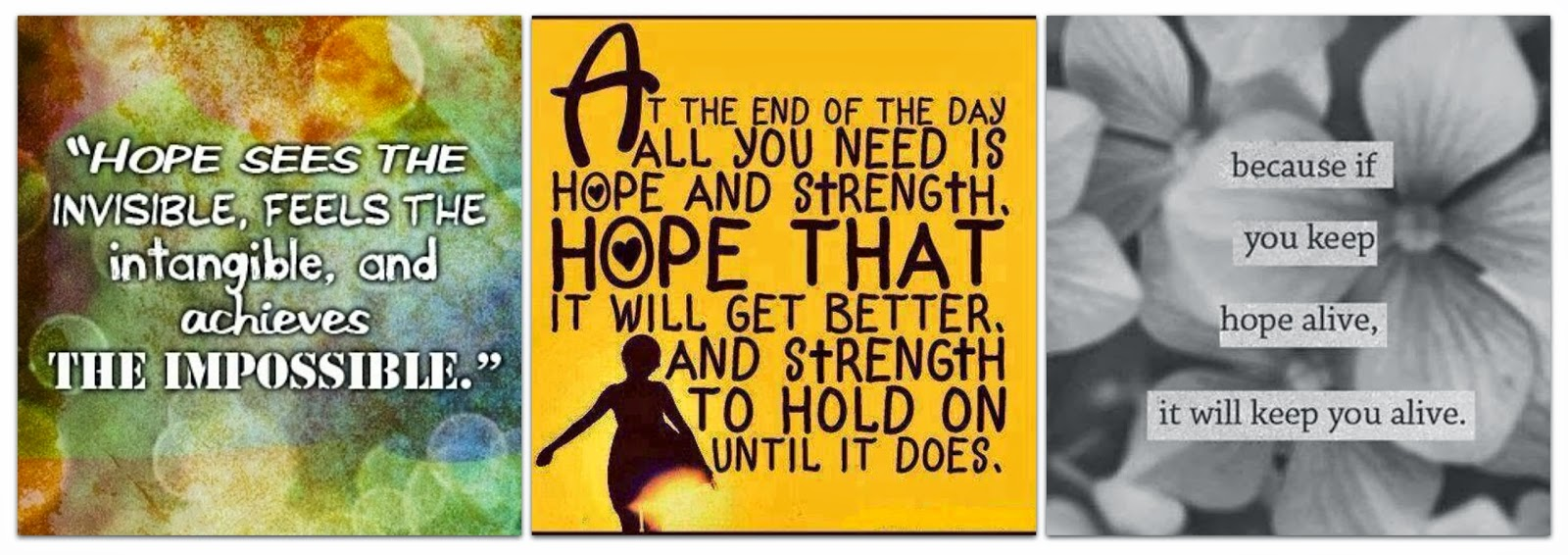 Quote Hope Strength Impossible Collage