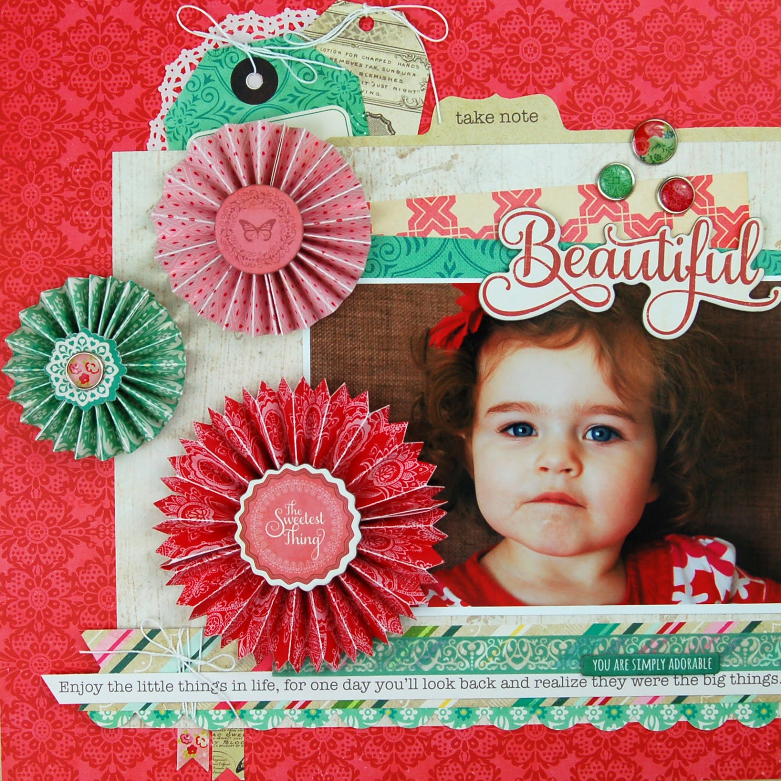 Beautiful #scrapbooking layout by Jen Gallacher for www.jengallacher.com